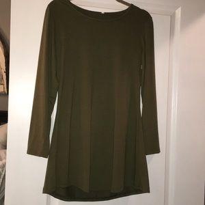 NWT boutique olive trapeze dress